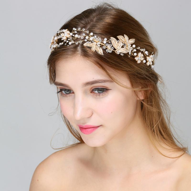 Terrific Aliexpress Com Buy Floral Pearl Hair Vine Wedding Crown Vinatge Short Hairstyles For Black Women Fulllsitofus
