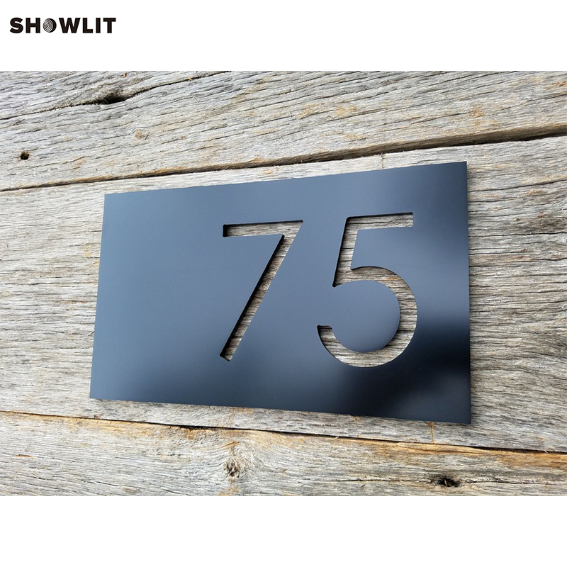 BLACK HOUSE NUMBERS MODERN ADDRESS PLAQUE SIZE OPTIONS CUSTOM MADE