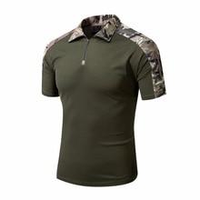 Männer Tactical Gear Militärische Airsoft Spezielle Ops Combat Shirt Camouflage Licht Gewicht Schnelle Assault Kurzarm Shirt Frosch Hemd