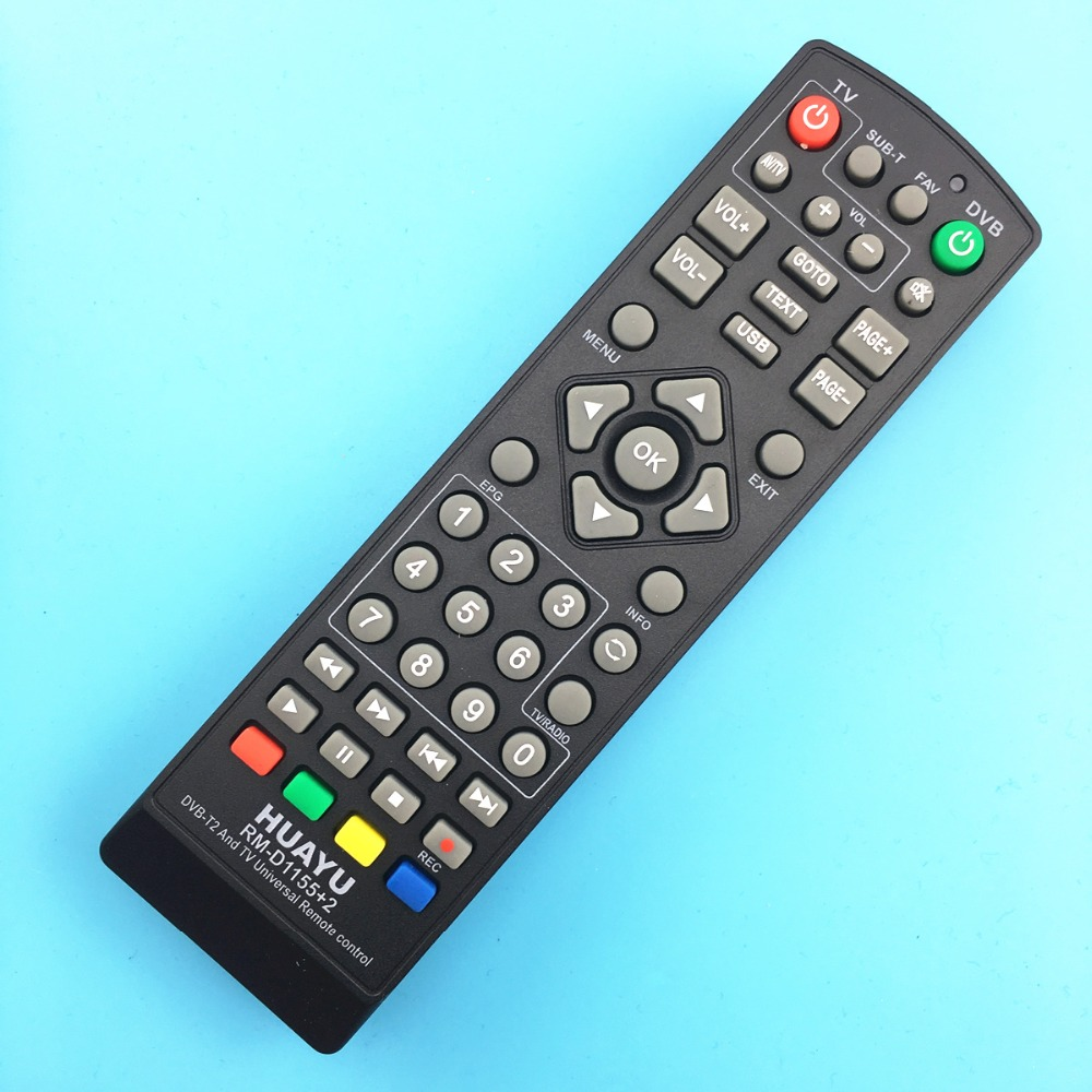 universal tv remote control controller dvb t2 remote rm d1155 sat satellite television receiver. Black Bedroom Furniture Sets. Home Design Ideas