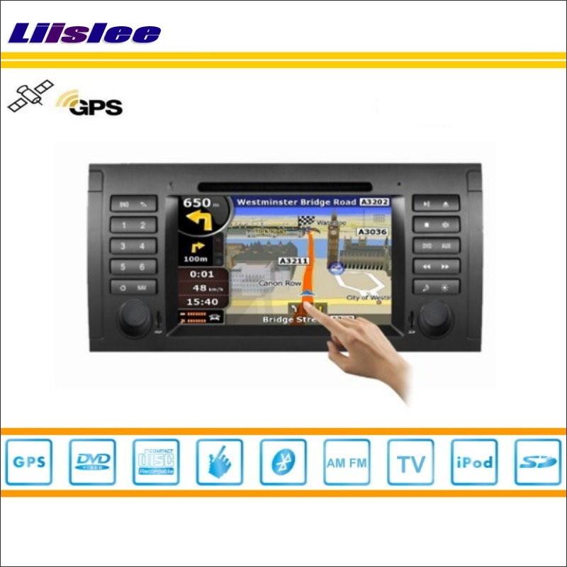 Liislee Pour BMW X5 E53 1999 ~ 2006 Lecteur DVD de Voiture GPS Navi Navigation Radio Stéréo CD TV iPod BT HD Écran S160 Multimédia système