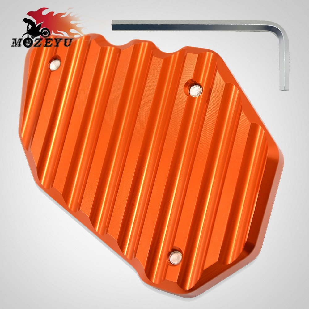 motorcycles accessories parts For KTM 1090 Adventure CNC Foot Side Stand Enlarge Pad Kickstand Extension Plate For KTM 1090 Adv in Stands from Automobiles Motorcycles