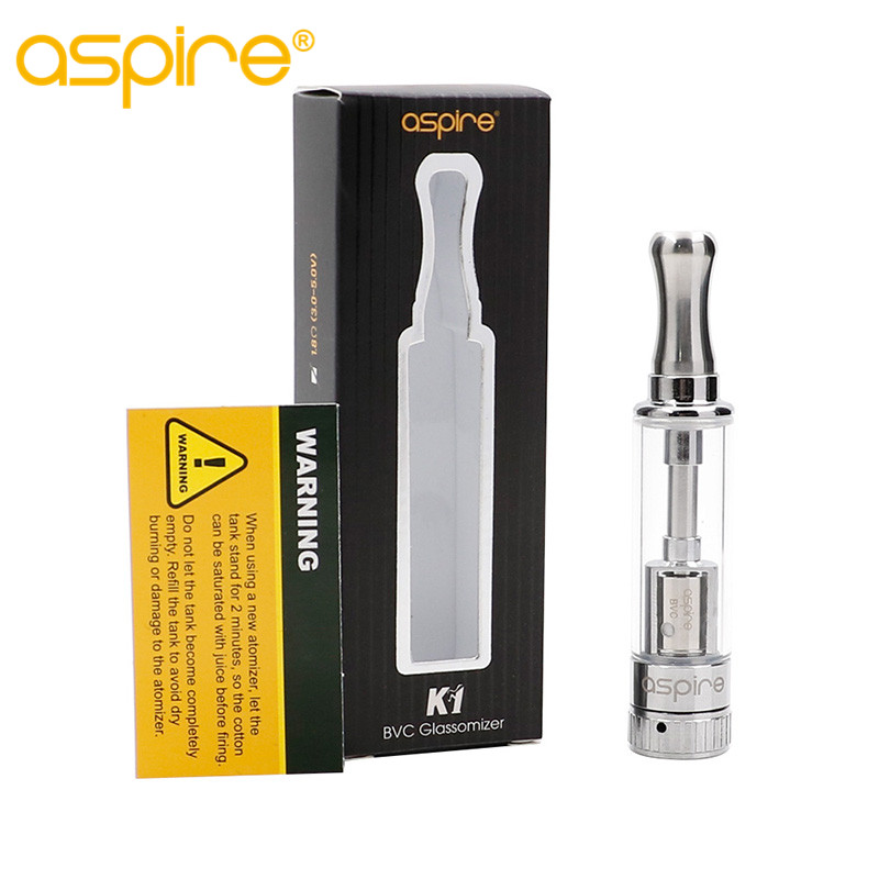 Original Aspire K1 BVC Atomizer Electronic Cigarette Atomizer Tank Bottom Vertical Coil Clearomizer aspire BVC Clearomizer