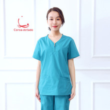 Operating suit doctor nurse short sleeve hairdressing brush hand mens and womens working clothes