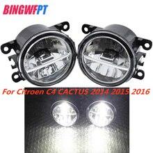 1Pair High Quality fog light LED light Fog Lamp For Citroen C4 CACTUS 2014 2015 2016 Car Styling