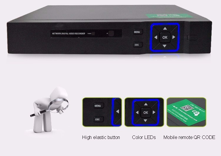 Hisiclion Sensor Blue-ray shell 16 Channel Four in One 1080P, 960P,720P,960H TVI NVR AHD DVR picture 02