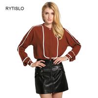 New Casual Women Blouse Ladies Solid Elegant Autumn Blouses Long Sleeve OL Office Shirt Size S