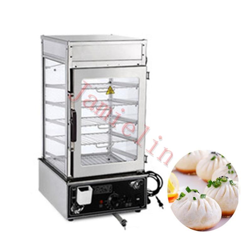 JamieLin Commercial stainless steel Electric Bun Steamer Bread Food Warmer Cabinet Stuffed Bun Steam Machine - 4