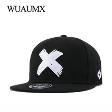 Wuaumx NEW Branded X Embroidery Snapback Caps For Women Men Classic Baseball Cap Fitted Hip Hop