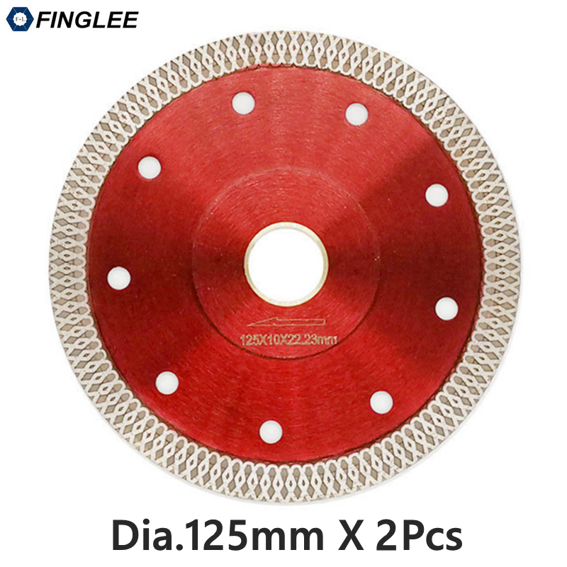 2pcs 125mm Wave Style Diamond Saw Blade for Porcelain tile ceramic Dry cutting aggressive disc marble granite Stone saw blade