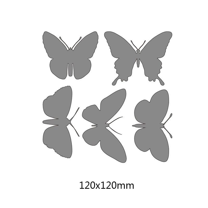 Butterflies Cutting Dies Metal Stencil Scrapbooking  Making Embossing Die Cuts