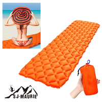 Inflatable Sleeping Pad With Pillow Filling Air Moistureproof Cushion Bag Camping Mat Beach Mattress Lazy Bed