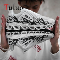 TULUO Flame Blade Sneakers For Mens Running Shoes Outdoor Breathable Male Trainers Jogging Footwears Chaussure Homme Sport Shoe
