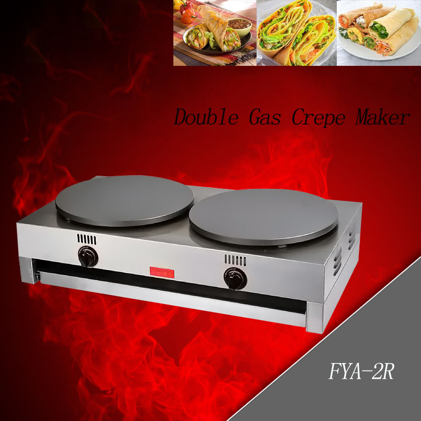 1PC gas type pancake machine Commercial Scones Making Machine non-stick pancake machine Crepe machine/ Pancakes grill