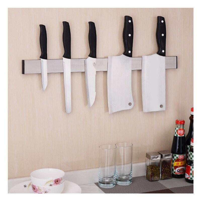 1Pcs High Quality Strong Magnetic Knife Holder Tool Rest Shelf For Kitchen Pub Bar Counter Black Knife
