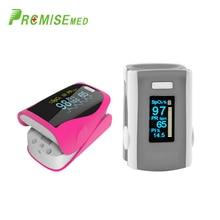 PR+MISE  M110gray+F9rosered Household Health Monitors Finger Pulse Oximeter ABS Silicone Sensor Equipment Pulsioximetro