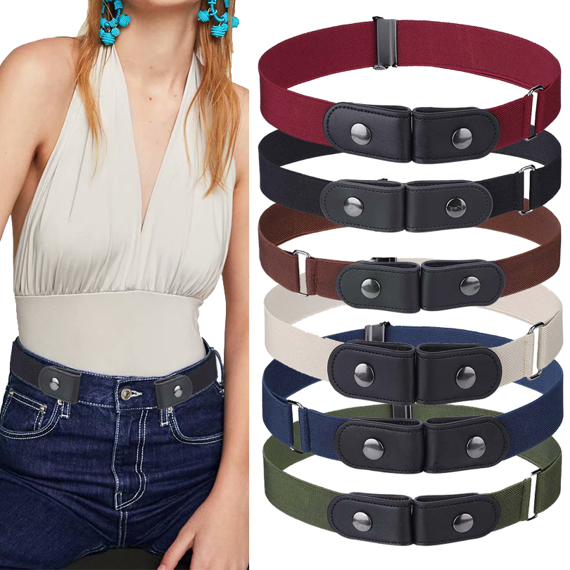 Elastic Belt For Jean Pants Dresses No Buckle Stretch Waist Belts Fit Women Men Boys Girls Drop Shipping