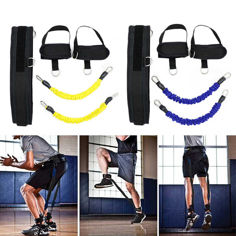 Multi-Color Latex Leg Bounce Trainer Pull Rope Resistance Band Fitness Bouncing Rope Leg Strength Training Agility Pull Strap