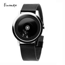 2018 Enmex estilo creativo reloj de pulsera de acero verdad en la ficción diseño especial discos manos moda breve reloj de cuarzo casual