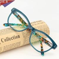 2018 Fashion women Cat eye Acetate eyeglasses Multi Focal Progressive Reading Glasses Women Presbyopic Eyeglasses Female Eyewear