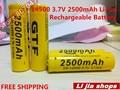 Wholesale High power 4pcs GTF 3.7v 2500mah aa lithium 14500 rechargeable li-ion battery For Flashlight Torch Dropship