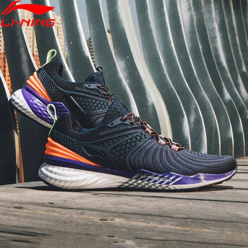 Li Ning Men LN CLOUD 2019 V2 Cushion Running Shoes Light Stable Support LiNing Bounce Sport