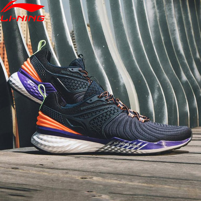 Li-Ning Men LN CLOUD 2019 V2 Cushion Running Shoes Light Stable Support LiNing Bounce Sport Shoes Sneakers ARHP013 XYP870 Ocean & Earth