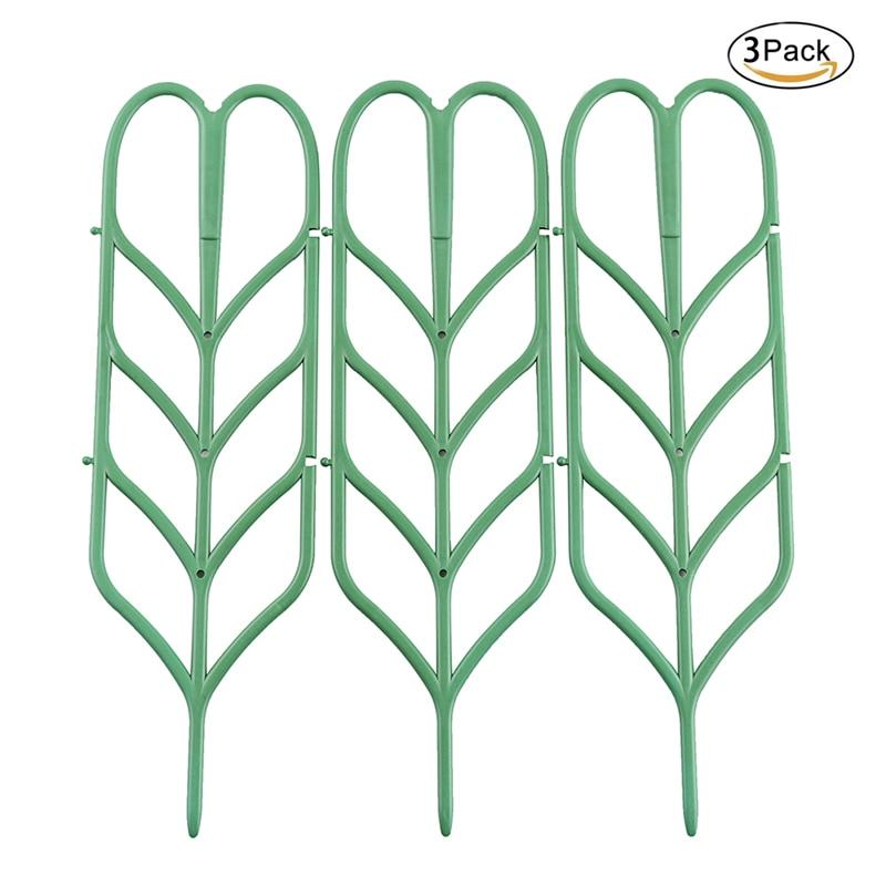 3 piezas DIY planta plástico soporte marco escalada planta flor ...