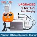 Placa de Carregamento Paralelo bateria Carregador Inteligente de Controle Remoto de Multi Carregador de Bateria para DJI Fantasma 4/PRO/PRO +
