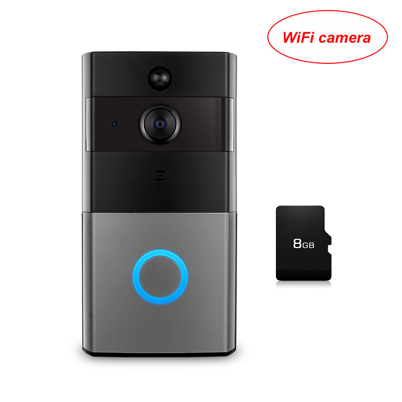 KERUI Wireless Door Bell Intercom Video Doorbell 1080P Security Camera Two Way Audio Memory Card Smart