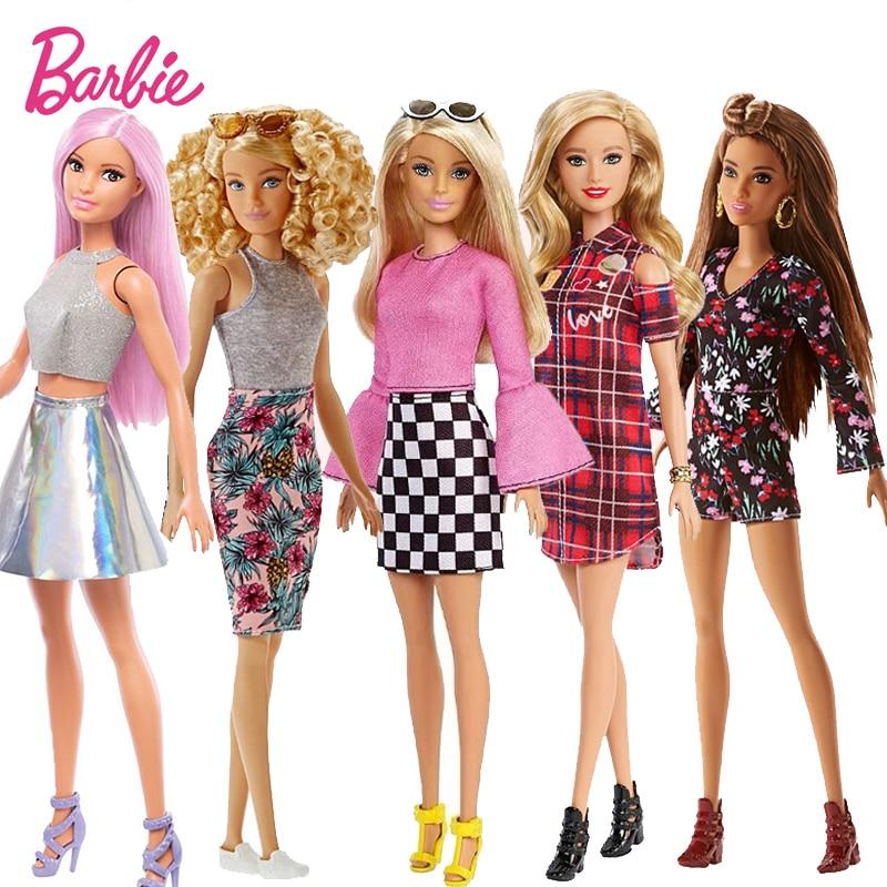 Original Barbie Dolls Brand Assortment Fashionista Girl Fashion Doll Princess Birthday Gift Kids Toys For Girls  Bonecas