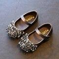Princesa Zapatos de Las Muchachas Nueva Primavera Otoño Muchachas de La Manera Zapatillas de deporte de Los Niños Suaves Del Baile Temperamento Diamante Zapatos Para Niñas Tamaño 26-30