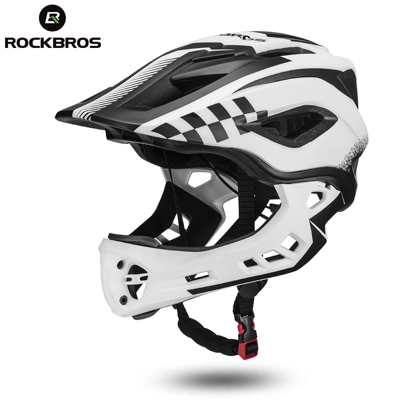 ROCKBROS 2 In 1 Bike Bicycle Cycling Helmets Full Covered Child Helmets EPS Parallel Car Motorcycle