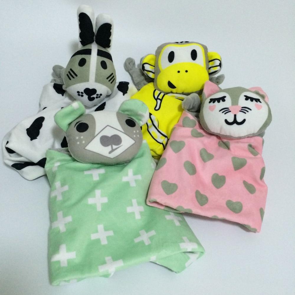 Bayi yang baru lahir bayi yang ditetapkan Arnab Cat Sleeping Dolls - Mainan lembut - Foto 2