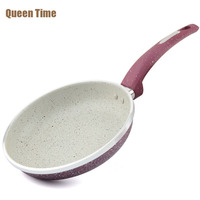 QueenTime 10 Frying Pans & Skillets Aluminum Alloy Cookware Cooking Pan Frying Eggs Only Use for Gas Kitchen Tools Band New