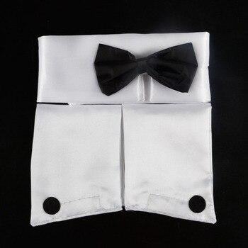 Mens Bow Tie Collar Cuffs Stripper Set Butler Waiter Costume Dress Up Valentines