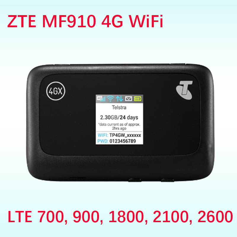 Unlocked ZTE MF910 CAT4 150Mbps 4G LTE Band 28 700 Band Wireless Router Mobile WiFi Hotspot Router 4g Sim Card Slot Wi-fi Pocket