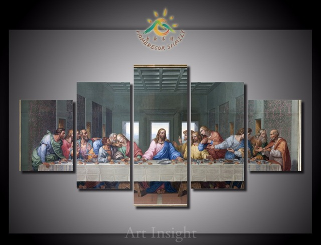5 Pieces Set The Last Supper Wall Art Paintings Picture Print On Canvas For Home