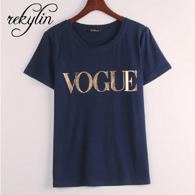 2019 T-Shirts Vogue Print for Women