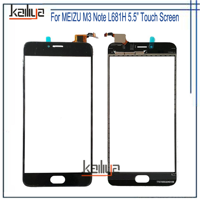 For MEIZU M3 Note L681H Touch Screen Digitizer Assembly Replacement Black 5.5 inches For MEIZU M3 Note L681H Mobile Phone