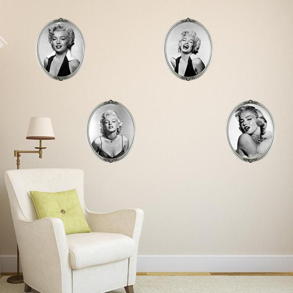 Marilyn monroe ornaments - 2016 New Envelopes Version Of Marilyn Monroe Wall Stickers Home Decor Living Room Diy Art Mural