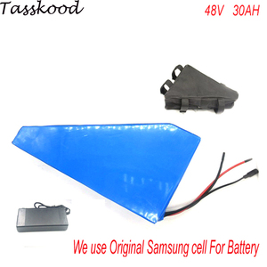 triangle style electric bike battery 48v 30ah ebike battery 48v 1000w bafang BMS control ebike kit with charger For Samsung cell