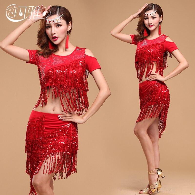 Lotynų Amerikos moterų suknelė, sūpynės, Tango džiazo ir flamenko mados Tanzkleid Sequin Robe Danse Latine Femme Seksualios aprangos