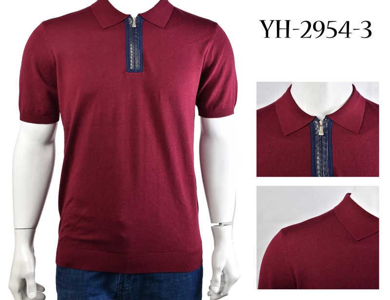 Billionaire футболка змеиной кожи шелк для мужчин 2019 Новый Повседневное узор удобные вышитые молния дышащая Бесплатная доставка