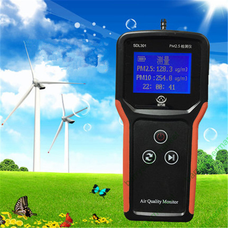 Air Quality Monitor PM2.5 Monitor Laser PM2.5 Detector PM 2.5 SDL301 Dust Particle Tester Counter