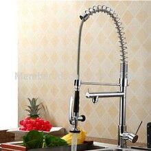 Luxus Deck Montiert Messing Küchenarmatur Chrom Kombiauslauf Sink Mischbatterie für Küche