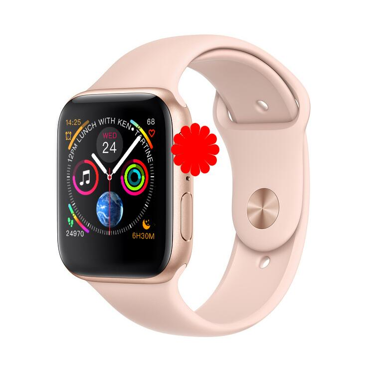 IWO 8 PLUS 44mm Watch 4 Heart Rate Smart Watch case for apple iPhone Android phone IWO 5 6 9 upgrade NOT apple watch