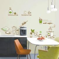 Hot Sale Wall Stickers PVC Wall Stickers Coffee Kitchen Decor Sofa Background Wall Decor 50 70cm