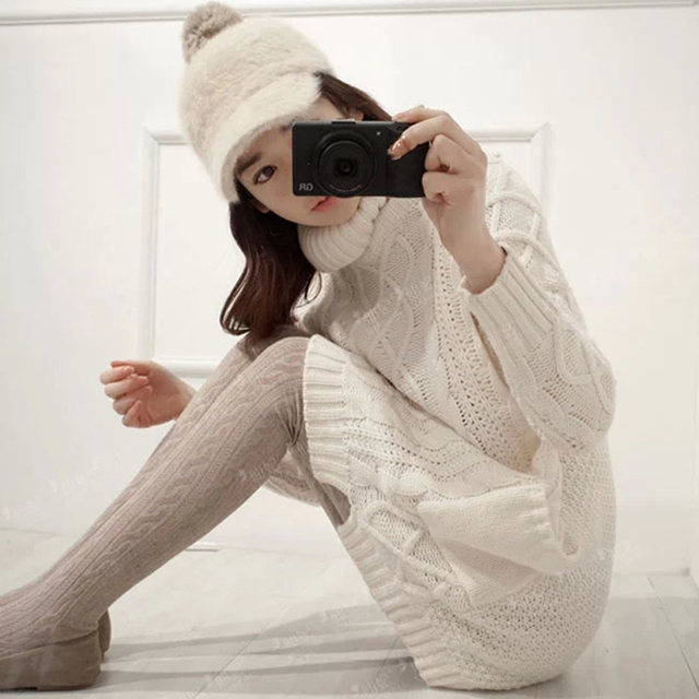 Free shipping Maternity clothing  winter plus size maternity sweater medium-long pullover thickening sweater turtleneck sweater