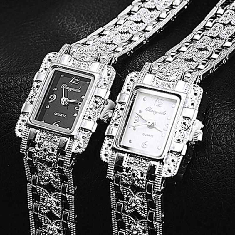 Women Luxury Stainless Steel Watch CYD New Quartz Fashion Casual Watches Mujer Ladies Analog Bracelet Wristwatch Unique Relojes